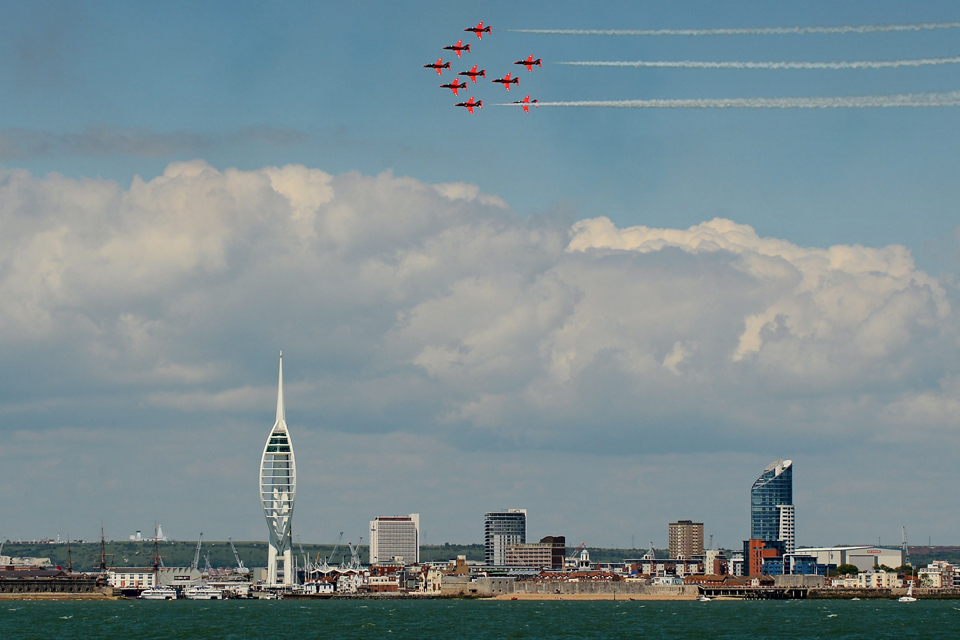 The Red Arrows over Portsmouth