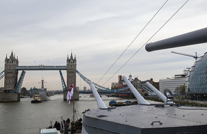 Tower Bridge from HMS Belfast (library image) [Picture: Sergeant Adrian Harlen, Crown copyright]