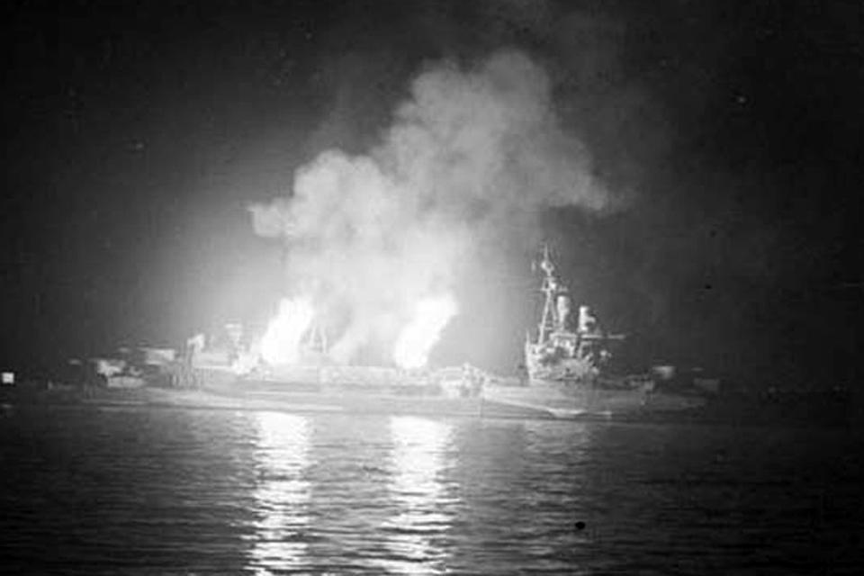 HMS Belfast during 1944