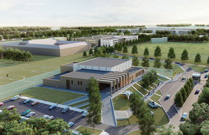 A computer-generated image of the new Defence College of Logistics, Policing and Administration [Picture: Copyright Skanska]