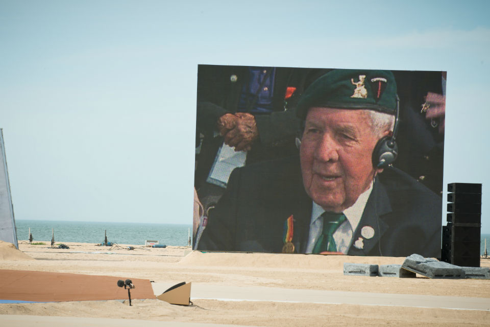 A service on Sword Beach to mark the 70th anniversary of D-Day.