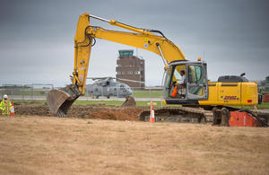 Construction work at Royal Naval Air Station Culdrose [Picture: Crown copyright]