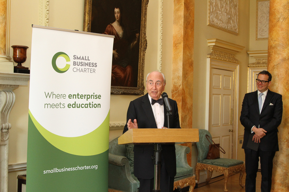 Lord Young speaking at the Small Business Charter awards ceremony