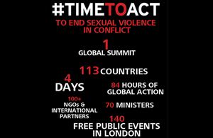 Global Summit to End Sexual Violence in Conflict in numbers