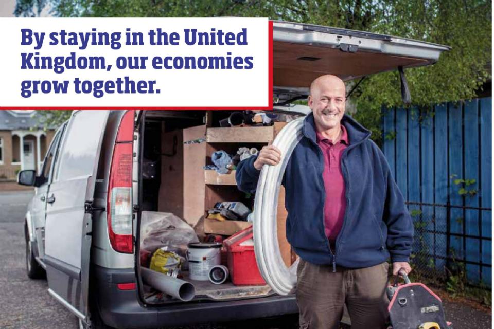 Workman with van