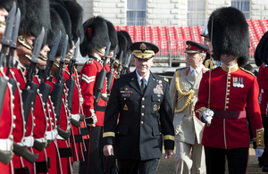 United States General Martin Dempsey inspects the Guard of Honour on Horse Guards Parade in London [Picture: Sergeant Pete Mobbs, Crown copyright]