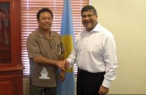 British Ambassador Asif Ahmad with Palau President HE Tommy Remengesau Jr