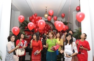 Releasing Balloons to honour survivors