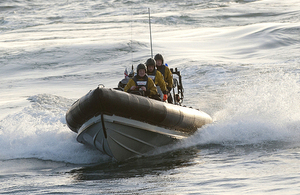 A Royal Navy Pacific 24 rigid inflatable boat [Picture: Andrew Linnett, Crown copyright]