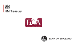 HM Treasury, Financial Conduct Authority and Bank of England logos