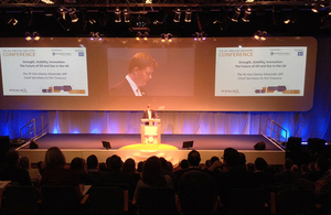 Chief Secretary to the Treasury Danny Alexander speaking at Oil and Gas UK's annual conference