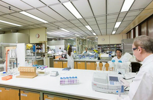Sample texting at a Government Chemist laboratory