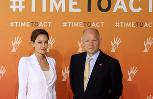 Angelina Jolie and William Hague.