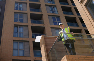 Chancellor of the Exchequer, George Osborne visiting a housing development in Lewisham.
