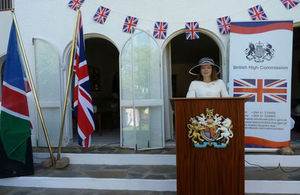 HE Marianne Young at the Queen's Birthday Party