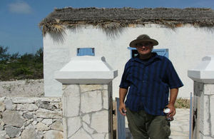 Brian Naqqi Mann is in charge of the new wise water garden at the TCI National Museum's historically accurate recreation of a typical 1800s Caicos family dwelling.