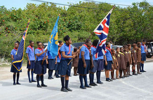 The Turks and Caicos Guides and Brownies.