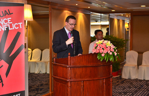 Ambassador at speech