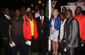 Vice President and High Commissioner with athletes