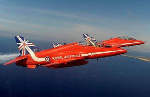 The Red Arrows in Cyprus [Picture: Crown copyright]