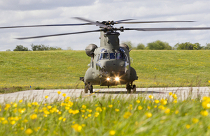 An RAF Mark 6 Chinook helicopter at RAF Odiham [Picture: Crown copyright]
