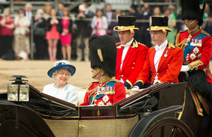 Her Majesty The Queen and the Duke of Edinburgh [Picture: Sergeant Paul Shaw, Crown copyright]