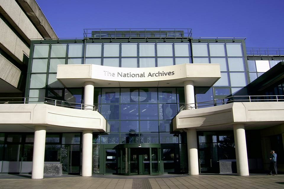 The National Archives building in Kew.