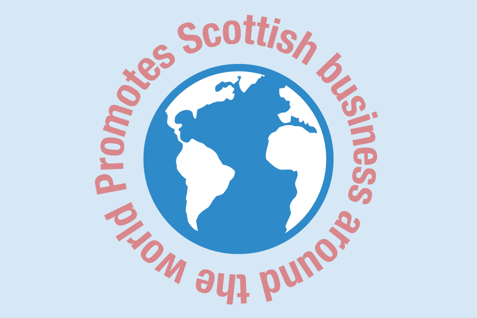 Promotes Scottish businesses around the world