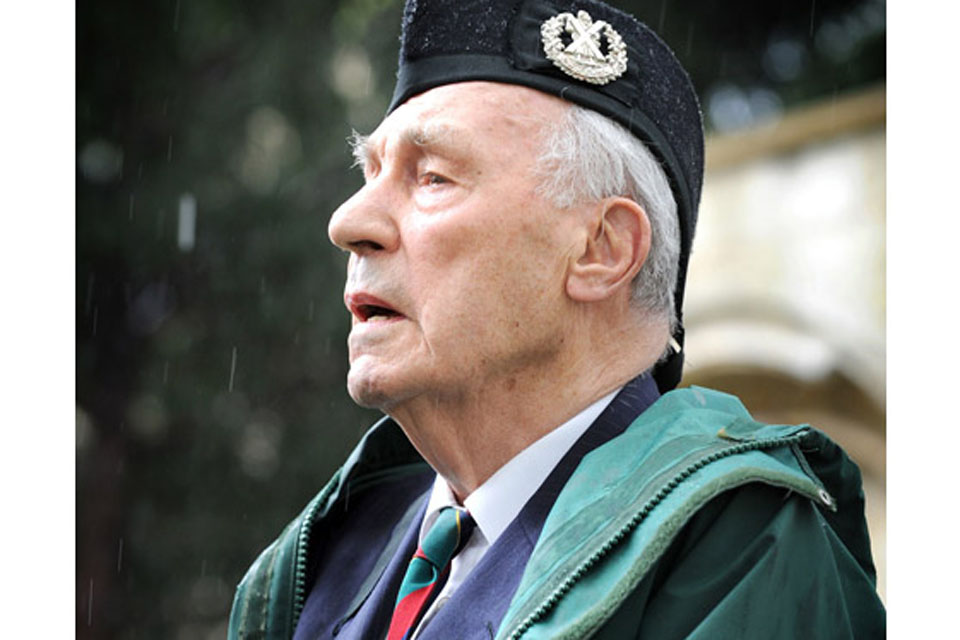 Kohima veteran Major (Retd) Gordon Graham reflects after placing his wreath on the war memorial
