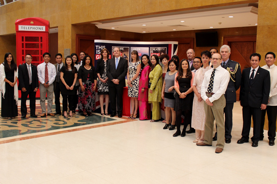 British High Commission staff at the Queen's Birthday Party reception