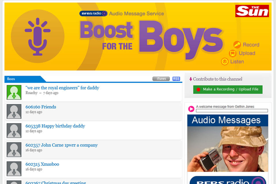 Boost for the Boys website screenshot