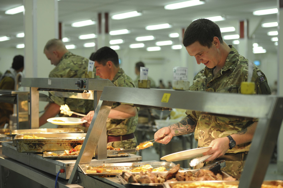 Camp Bastion's dining facility