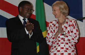 Minister of Foreign Affairs Hon. Bernard Membe and H.E Dianna Melrose