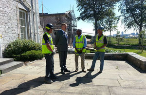 Kris Hopkins visits the Mount Wise development in Plymouth