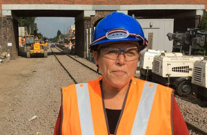 Baroness Kramer views rail improvements at Huyton and Roby
