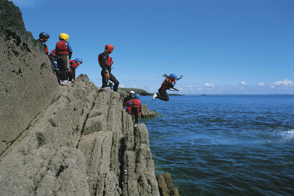 Coasteering-in-Wales