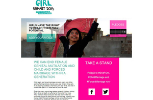 Girl Summit pledge campaign screenshot: http://ow.ly/ynzVU