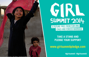 Girl Summit pledge campaign