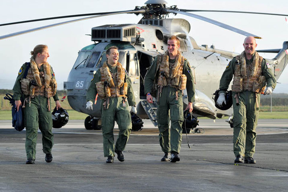 857 Naval Air Squadron aircrew return to RNAS Culdrose