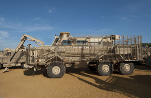 A Buffalo mine protection vehicle