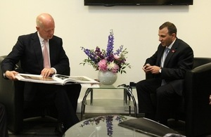 William Hague and Gebran Bassil