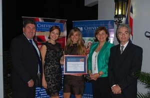 Chevening recipient and her family