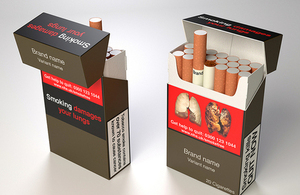 Image of proposed standardised packaging of tobacco products