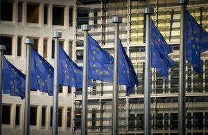 European flags flying
