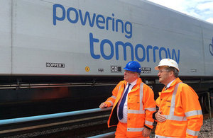Patrick McLoughlin visits the East Coast Main Line improvements.