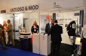 UKTI DSO/MoD stand at Seawork International 2014