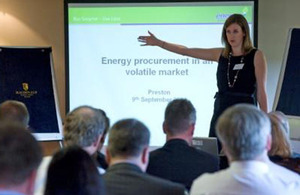The Pan-Government Energy Project Team won the Procurement Award at this year's Civil Service Awards
