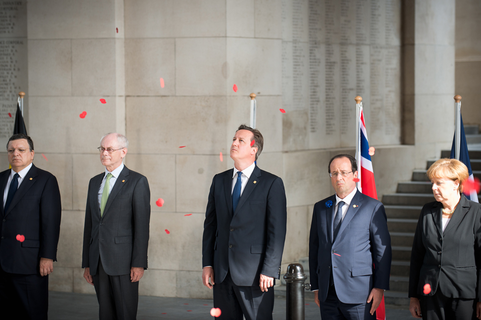European leaders in Ypres to mark the Centenary of the start of World War I.