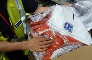 England shirts seized at Heathrow
