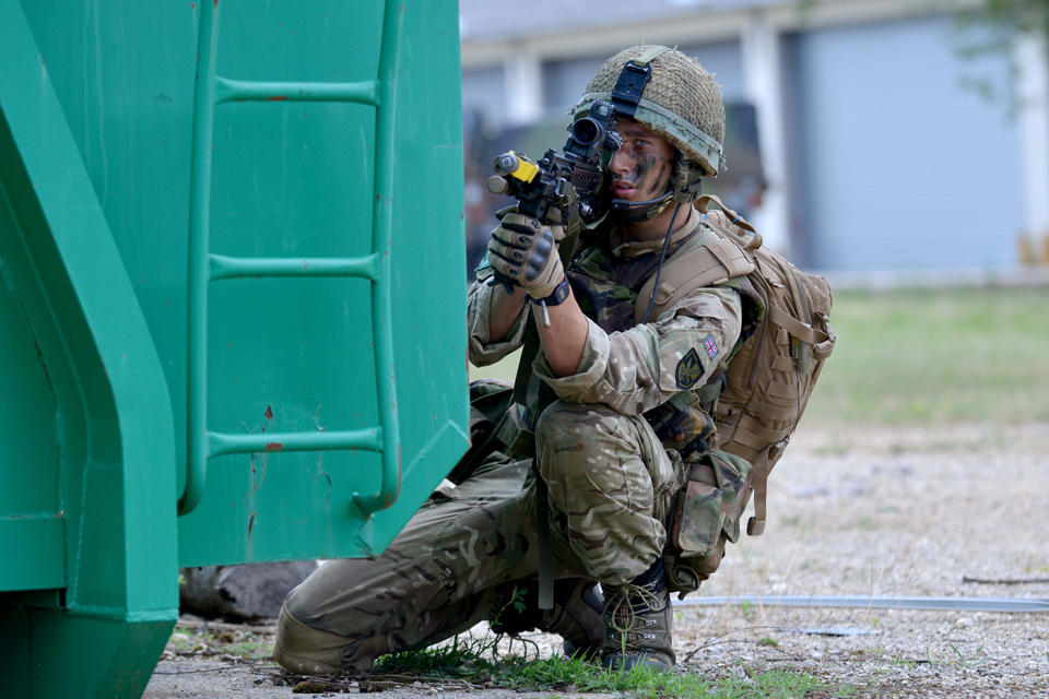 A member of 16 Air Assault Brigade
